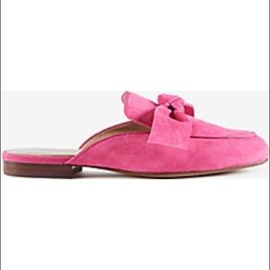 Ann Taylor Marisela Suede Bow Loafer Slides